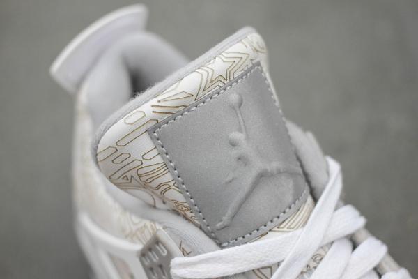 Air Jordan 4 White Metallic Silver (blanc argentée) (2)