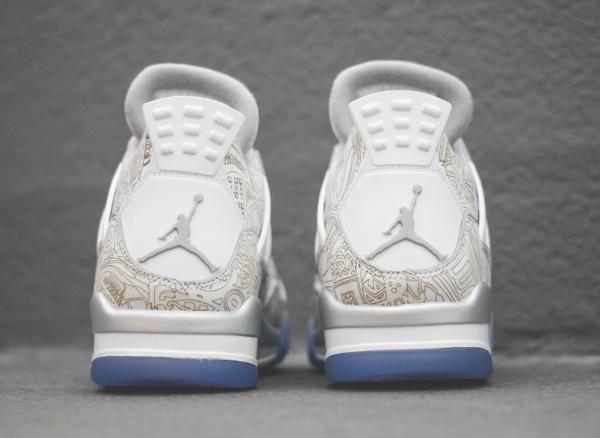 Air Jordan 4 White Metallic Silver (blanc argentée) (4)