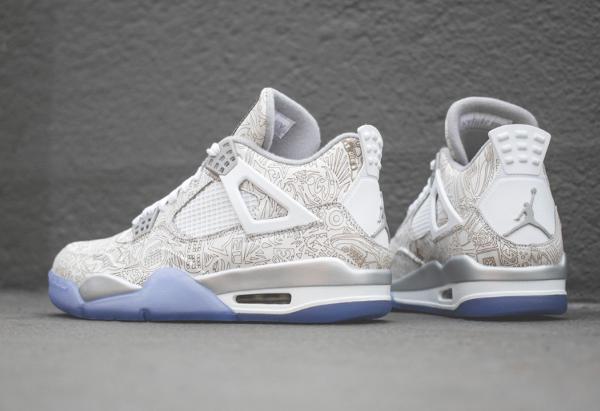 Air Jordan 4 White Metallic Silver (blanc argentée) (5)