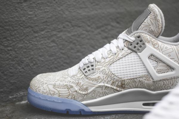 Air Jordan 4 White Metallic Silver (blanc argentée) (6)