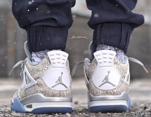Air Jordan 4 White Metallic Silver (blanc argentée) (7)