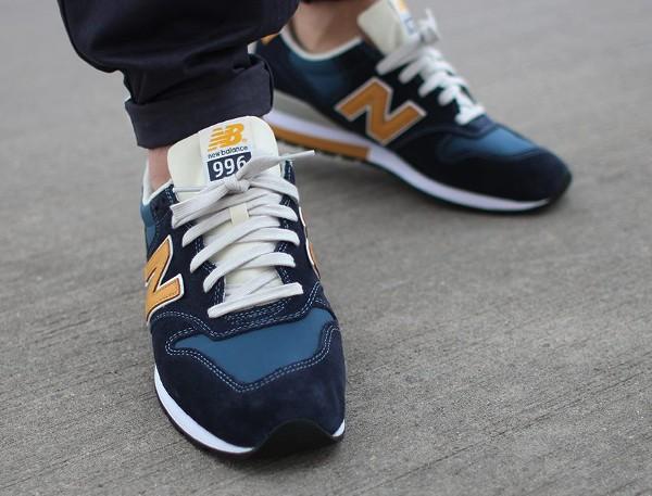 New Balance MLR996 FF (Blue & Yellow) aux pieds (1)
