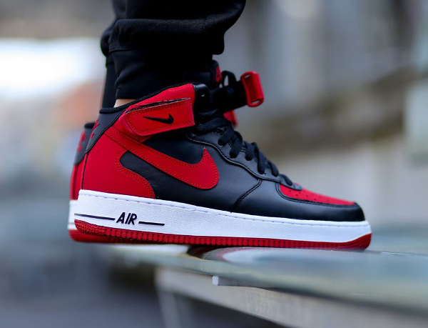 grossiste 8b1d9 186d5 Nike Air Force 1 Mid Black/Red (Bred) : où l'acheter ?