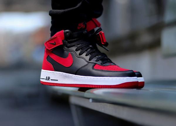 Nike Mid 1 BlackredbredOù L'acheter Air Force CxoerdBQW