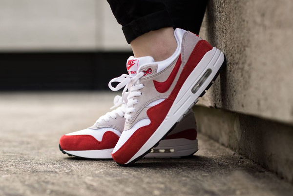 Nike Air Max 1 OG GS (femme) White Challenge Red Grey Black (4