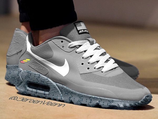 Nike Air Max 90 Hyperfuse customisée Independence Day (Nike Mag) - Jeroenveenn
