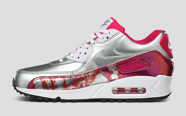 Nike Air Max 90 Metallic Silver Pink 'Air Brush' (rose) (1)