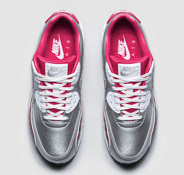 Nike Air Max 90 Metallic Silver Pink 'Air Brush' (rose) (4)