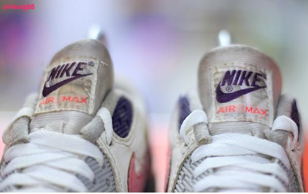 Nike Air Max 90 OG White Eggplant Flare zen grey (1992)