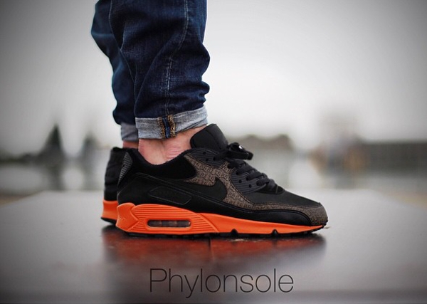 Nike Air Max 90 Powerwall Black Orange - Phylonsole