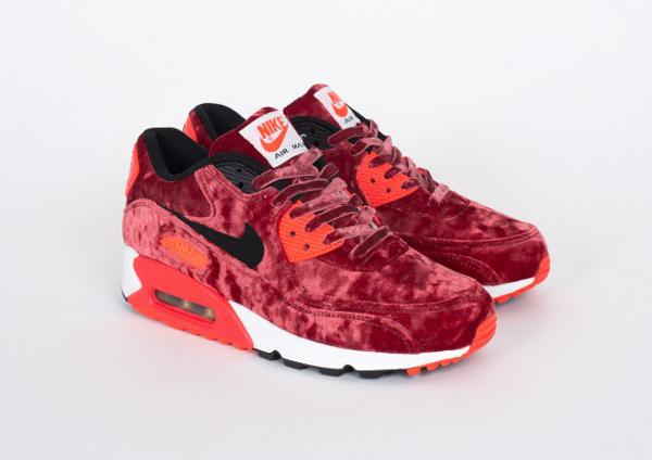 meilleur service 2f4d9 38db1 Nike Air Max 90 Red Velvet/Infrared (velours bordeaux)