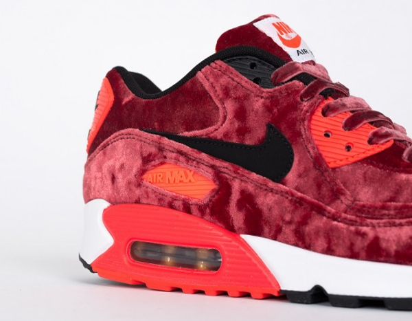 Nike Air Max 90 Red Velvet (bordeaux) Infrared 25eme anniversaire (2)