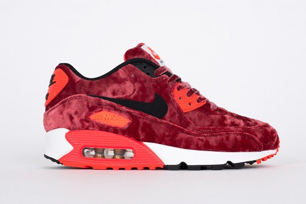 meilleur service f1640 d13d4 Nike Air Max 90 Red Velvet/Infrared (velours bordeaux)