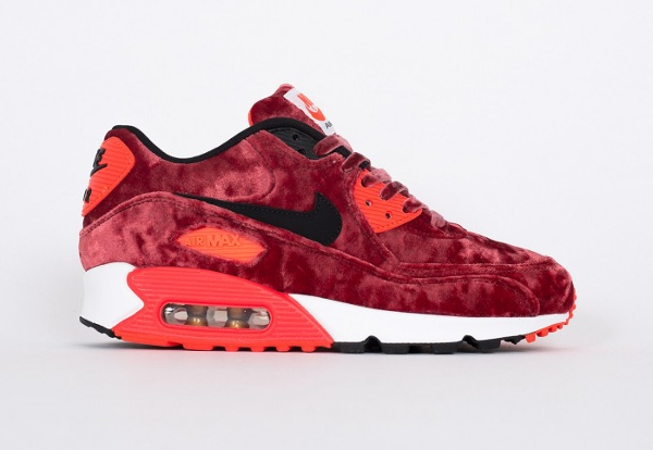 Nike Air Max 90 Red Velvet (bordeaux) Infrared 25eme anniversaire (4)