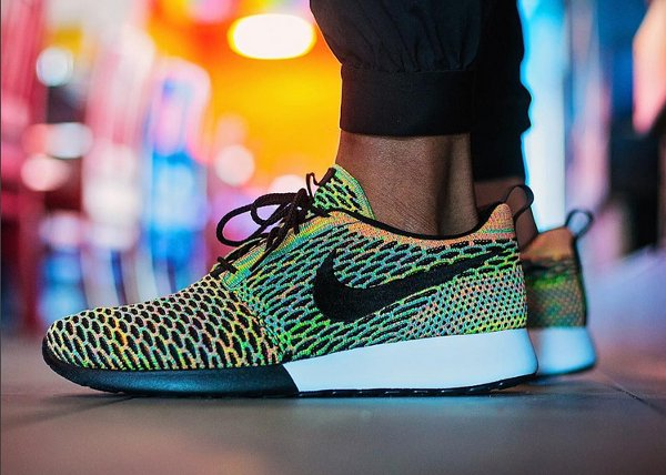 Nike Roshe Flyknit One ID Multicolor 2 tons