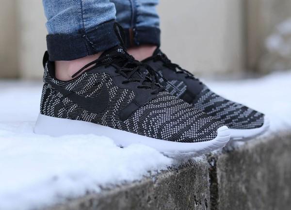 Nike Roshe Run Jacquard (Black White) (4)