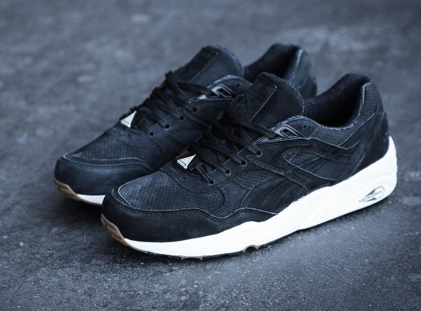 Puma R698 Perforated Black Whisper White (1)