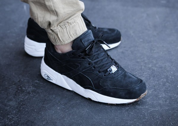 Puma R698 Perforated Black Whisper White (5)