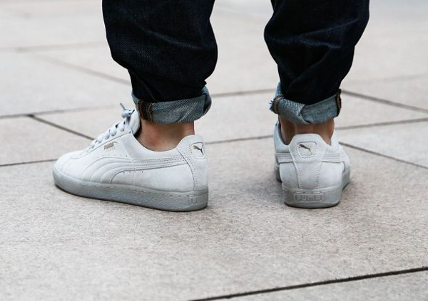 puma suede classic iced grise