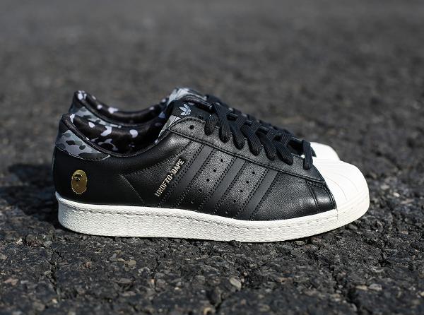 Adidas Consortium Superstar 80 Bape Undefeated Core Black (1)