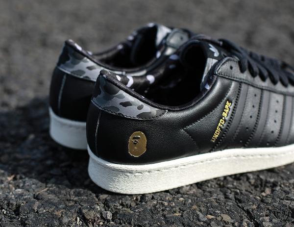 Adidas Consortium Superstar 80 Bape Undefeated Core Black (2)