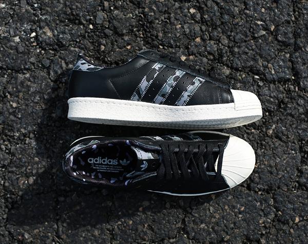 Adidas Consortium Superstar 80 Bape Undefeated Core Black (3)