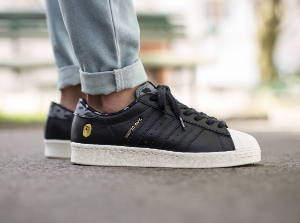 Adidas Consortium Superstar 80 Bape Undefeated Core Black (4)