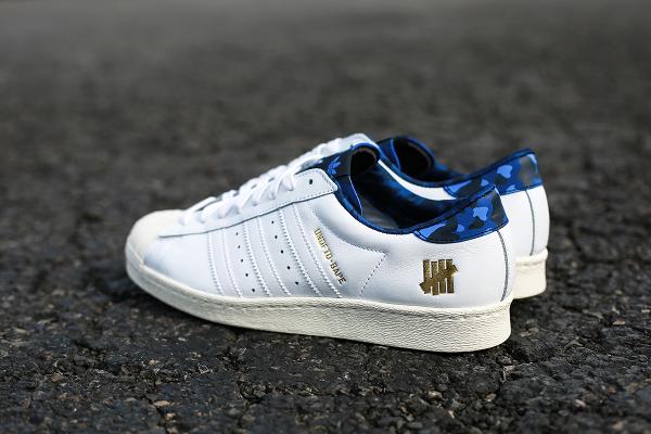 Adidas Consortium Superstar 80 Bape Undefeated White (1)
