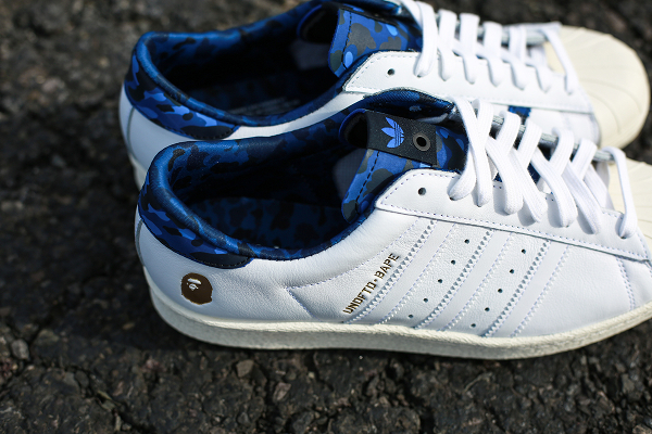 Adidas Consortium Superstar 80 Bape Undefeated White (2)