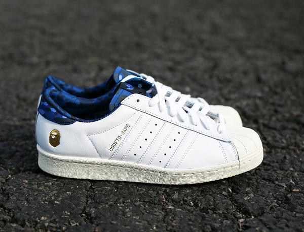 Adidas Consortium Superstar 80 Bape Undefeated White (3)