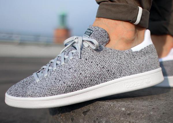 Adidas Stan Smith primeknit gris / blanco zapatillas actus