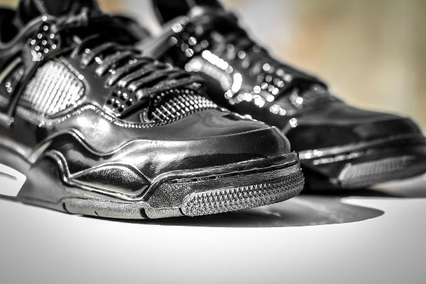 Air Jordan 11Lab4 Black White (cuir verni noir) (5)