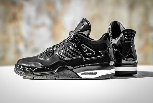 Air Jordan 11Lab4 Black White (cuir verni noir) (7)