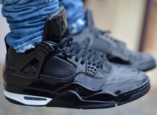 Air Jordan 11Lab4 Black White (cuir verni noir) exclusivesolesny