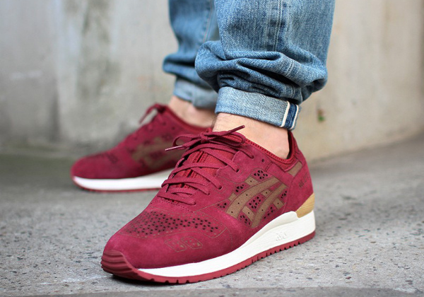 Asics Gel Lyte 3 Burgundy Laser Cut (1)