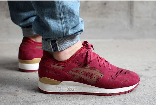 Asics Gel Lyte 3 Burgundy Laser Cut (2)