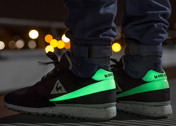 Le Coq Sportif Eclat Glow in the dark 2 aux pieds (3)