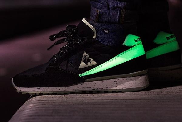 Le Coq Sportif Eclat Glow in the dark 2 aux pieds (5)