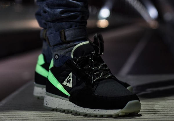 Le Coq Sportif Eclat Glow in the dark 2 aux pieds (6)