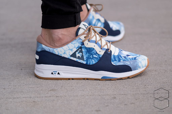 Le Coq Sportif LCS R 1400 (fleurs tropicales) Tropical Flowers Dress Blue (2)