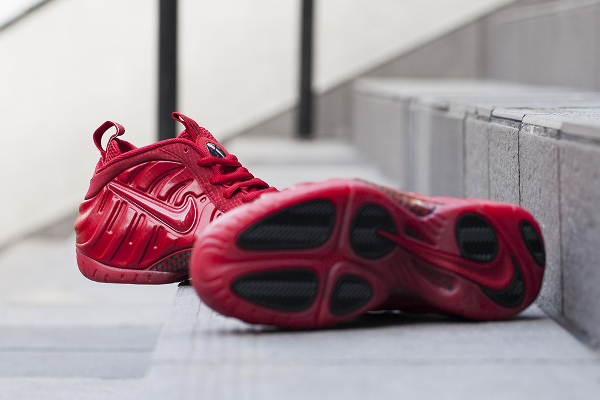 Nike Air Foamposite Pro Gym Red October (rouge et or) (2)