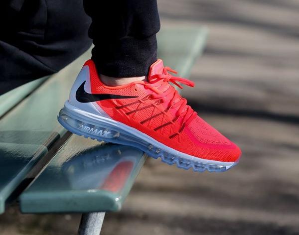 Nike Air Max 2015 Bright Crimson Black-Summit White (3)