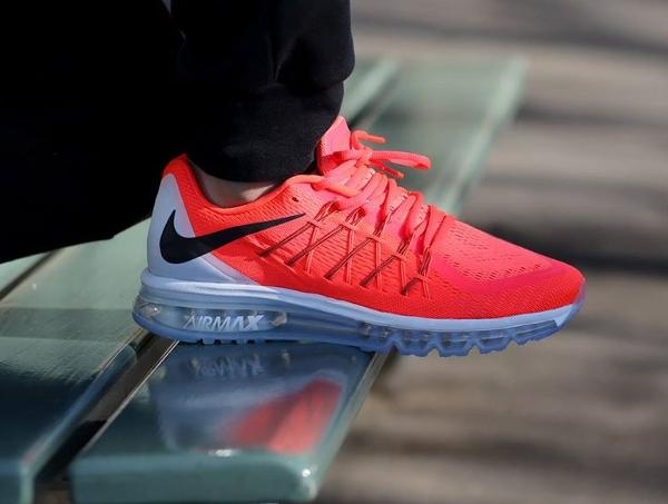 Nike Air Max 2015 Bright Crimson Black-Summit White (4)