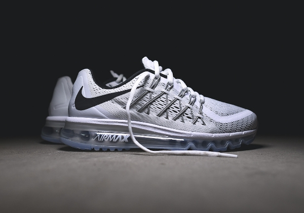 Nike Air Max 2015 White & Black (blanc et noir) (9)