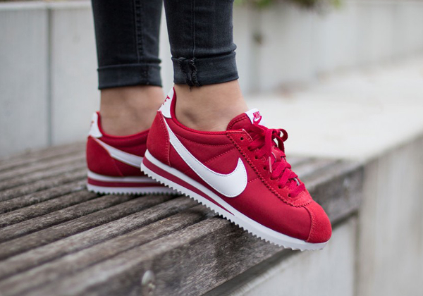 new style 483c3 ab4ad Nike Cortez Nylon Gym Red pas cher (4)