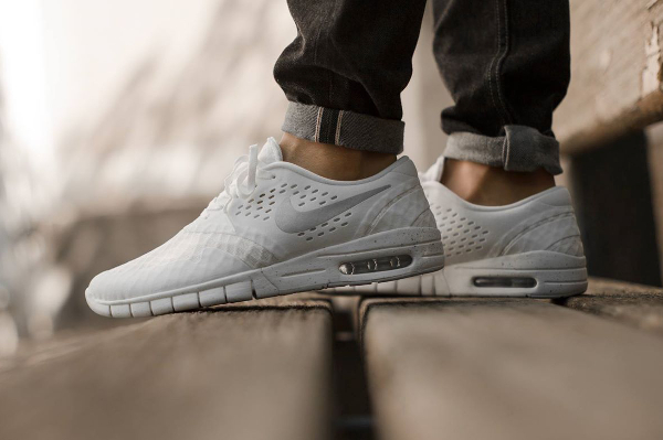 Nike SB Eric Koston 2 Max White Metallic Silver Black (blanc) (3)
