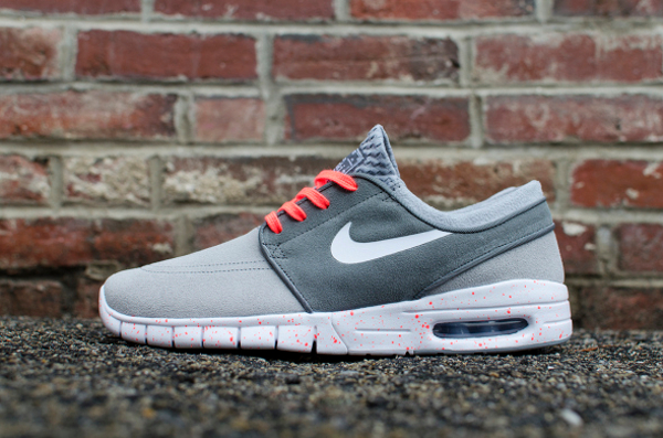 premium selection 83539 a3b33 Nike SB Janoski Max Wolf Grey Hot Lava (gris et rose) (1)