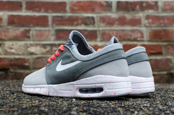 Nike SB Janoski Max Wolf Grey Hot Lava (gris et rose) (2)