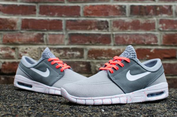 Nike SB Janoski Max Wolf Grey Hot Lava (gris et rose) (3)