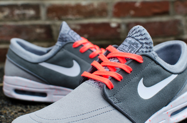 super popular cec33 2e098 Nike SB Janoski Max Wolf Grey Hot Lava (gris et rose) (4)